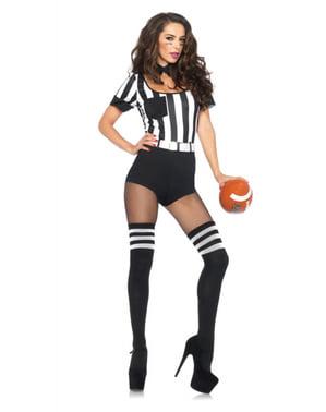 Disfraz de árbitro sexy para mujer