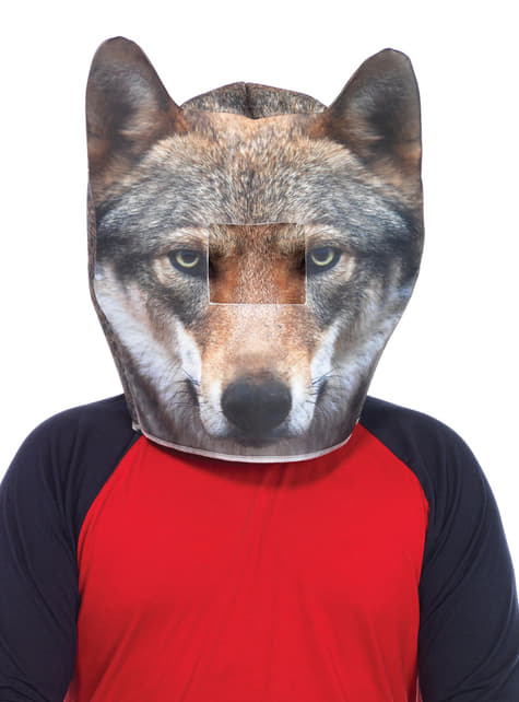 Adult's Padded Wolf Mask