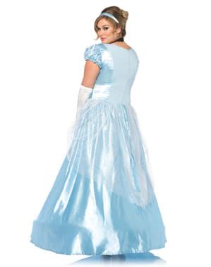 Disfraz de princesa del zapato de cristal para mujer talla grande