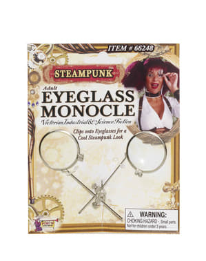 Adult's Steampunk Monocle for Glasses
