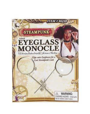 Monokel till glasögon Steampunk för vuxen