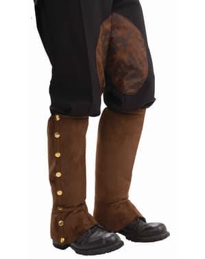 Tapa botas de Steampunk castanho para homem