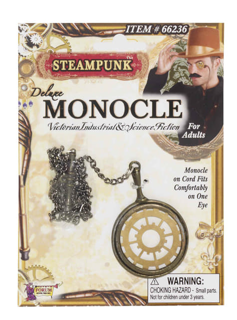 Steampunkový monokl deluxe