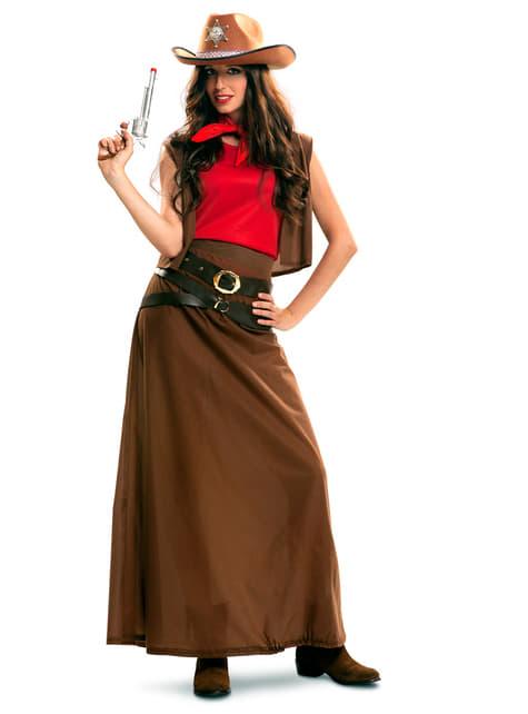Disfraz de vaquera cowgirl para mujer