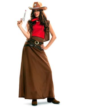 Cowgirl Kostyme til Dame