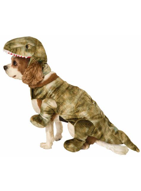 Fato de cachorro de dinossauro para cão