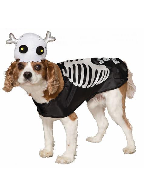 犬用骸骨衣装