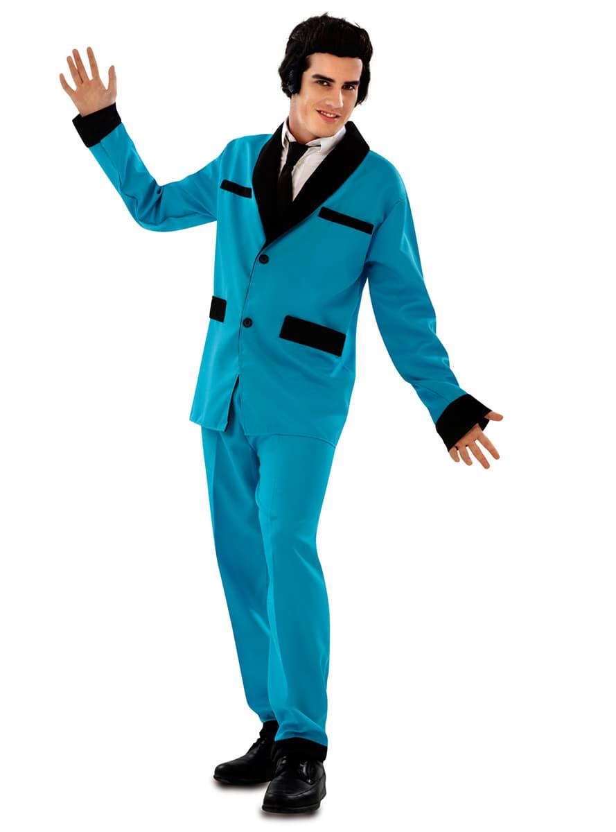 men's blue rockabilly costume