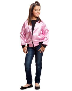 소녀의 1950 년대 핑크 레이디 자켓
