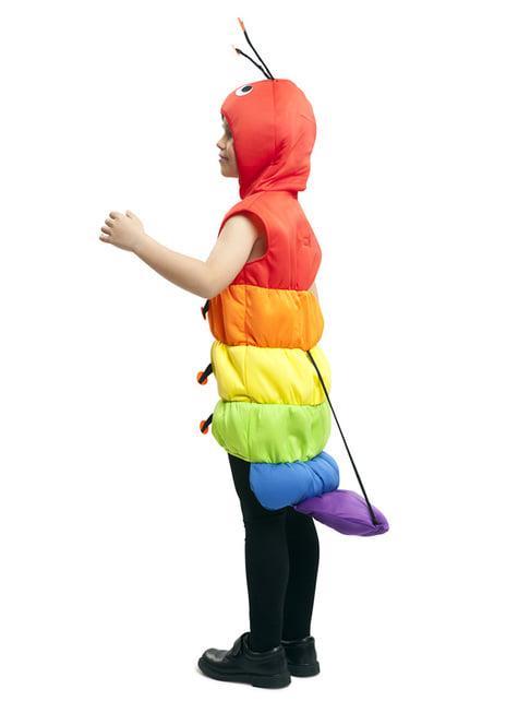 Chlapecký kostým housenka barevný