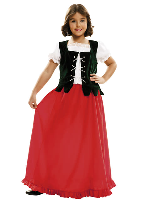 Girl's Dulcinea the Maid Costume