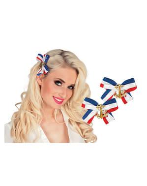 Marynarskie wstążki do włosów