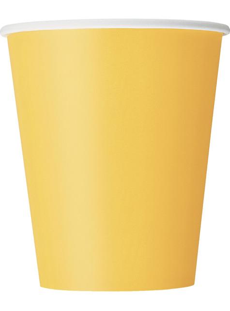 8 vasos amarillo girasol - Línea Colores Básicos