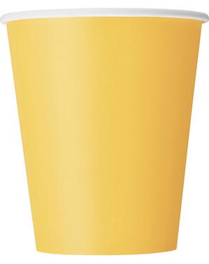 8 Pappbecher gelb - Basicfarben Collection