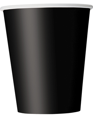 8 gobelets noirs - Gamme couleur unie