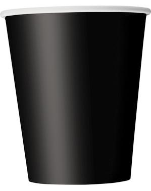 8 vasos negros - Línea Colores Básicos