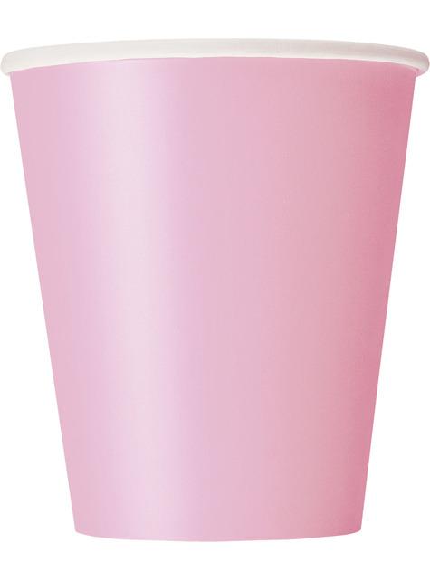 8 vasos rosa pastel - Línea Colores Básicos