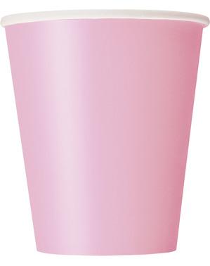 8 copos rosa pastel - Linha Cores Básicas
