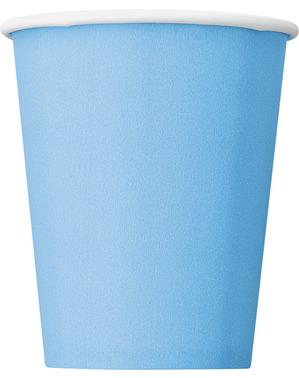 8 gobelets bleu pastel - Gamme couleur unie
