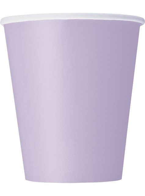 8 vasos lila - Línea Colores Básicos