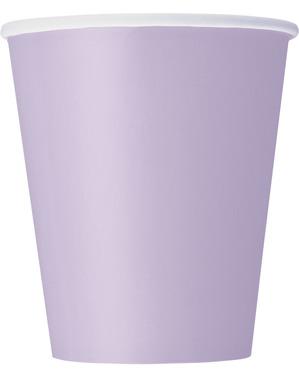 8 Liliowe Kubki - Linia Kolorów Podstawowych