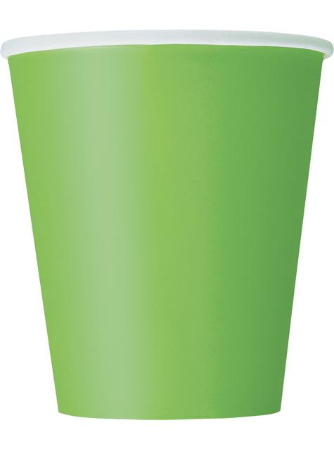 8 vasos verde lima - Línea Colores Básicos