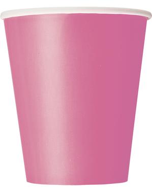 8 fuchsiově růžových kelímků - Línea Colores Básicos