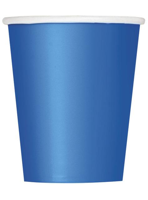 8 vasos azul - Línea Colores Básicos