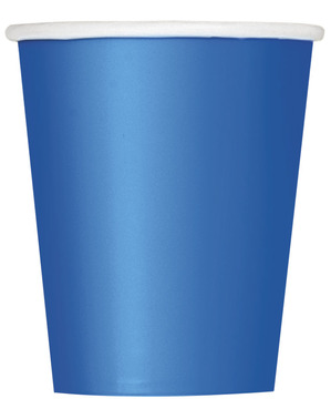8 Dark Blue Cups - Basic Colours Line