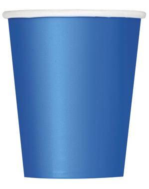 8 Donkerblauwe Bekers - Basic Colours Line