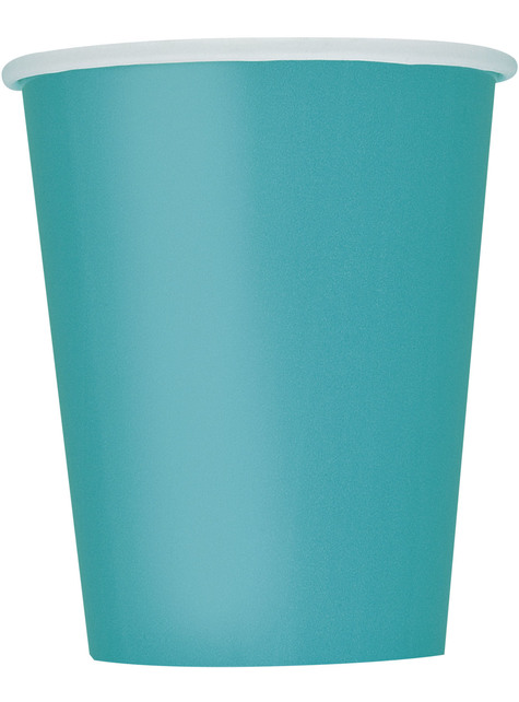8 vasos azul turquesa - Línea Colores Básicos
