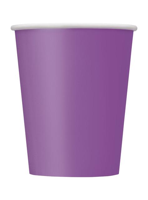 8 vasos morado - Línea Colores Básicos