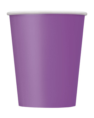 8 gobelets violet - Gamme couleur unie