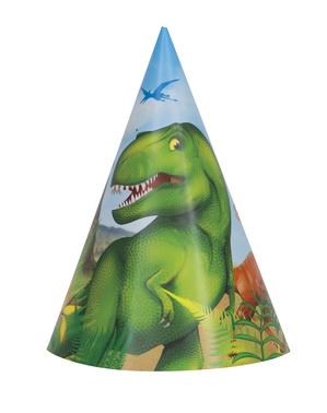 8 Czapeczki imprezowe Dinozaury - Dinosaur