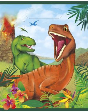 8 Torebki na prezenty Dinozaury - Dinosaur