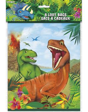 8 bolsas para chucherías de dinosaurios - Dinosaur