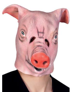 Maschera da maiale della fattoria per adulto