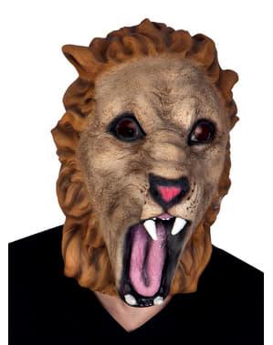 Máscara de leão selvagem para adulto