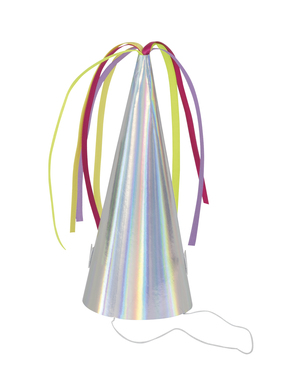 8 chapeaux de fête iridescents - Unicorn