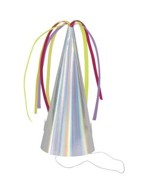 8 partyhattar iridiscenta - Unicorn