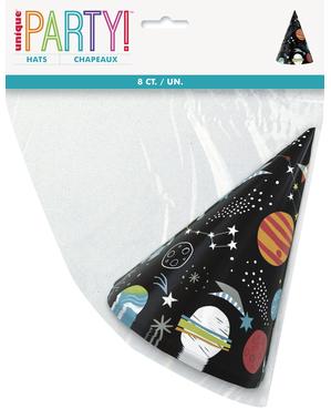 8 gorritos de fiesta del espacio - Outer Space