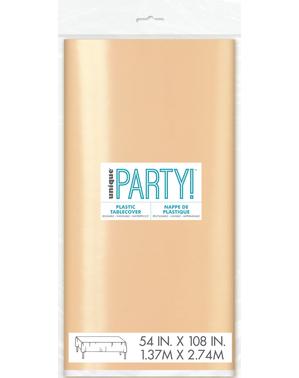 Mantel oro rosa rectangular - Línea colores Básicos