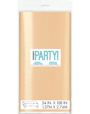 Nappe rose gold rectangulaire - Gamme couleur unie