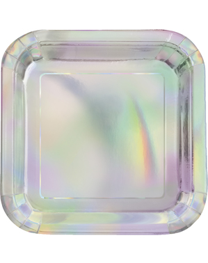 8 petites assiettes iridescentes  (18 cm)