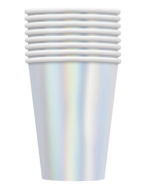 8 pappersmuggar iridiscenta stora - kollektion basfärger