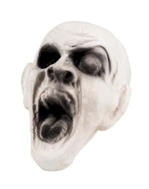 Cabeça de zombie fantasmal decorativa