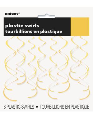 8 decorazioni a spirale da appendere giallo girasole - Linea Colori Basic