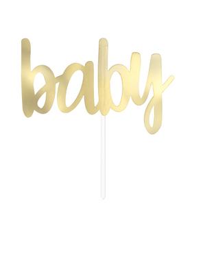 """Zlatá ozdoba na dort """"Baby"""""""