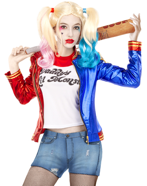 Harley Quinn Kostymesett Plusstørrelse - Suicide Squad