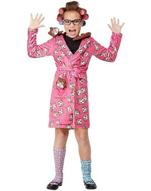 Costum de bunicuță nebună cu pisici pentru fată